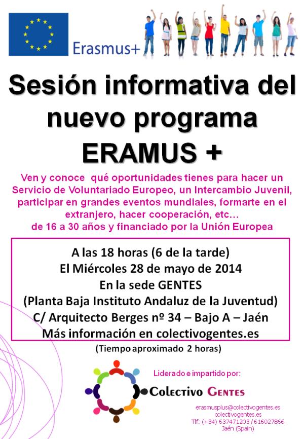 Sesión informativa del nuevo programa Erasmus +
