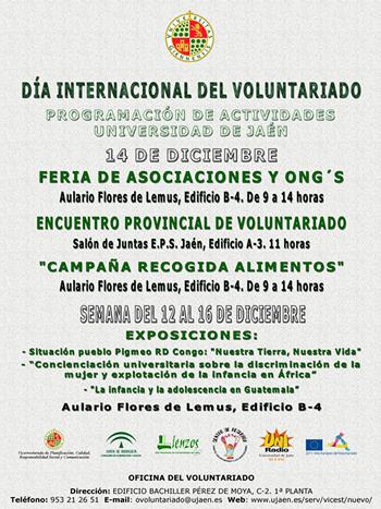 Calendario Ujaen.Dia Internacional Del Voluntariado En Jaen Colectivo Gentes