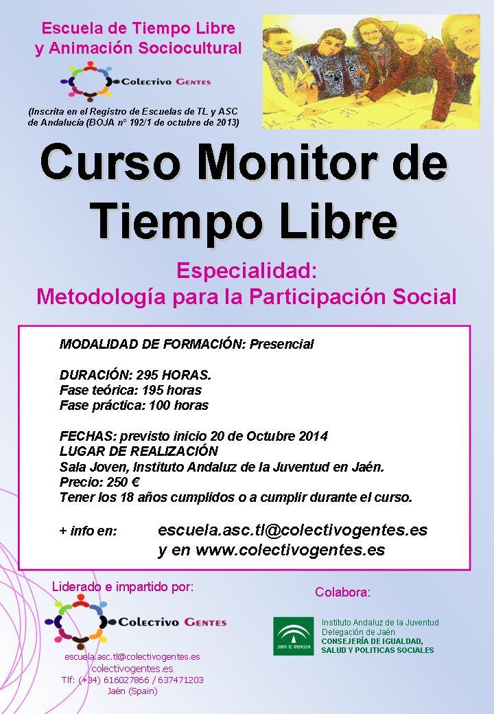 Colectivo Gentes ofrece el curso de Monitor de Tiempo Libre