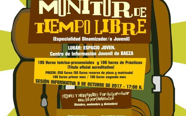 Curso Monitor/a de Tiempo Libre en Baeza