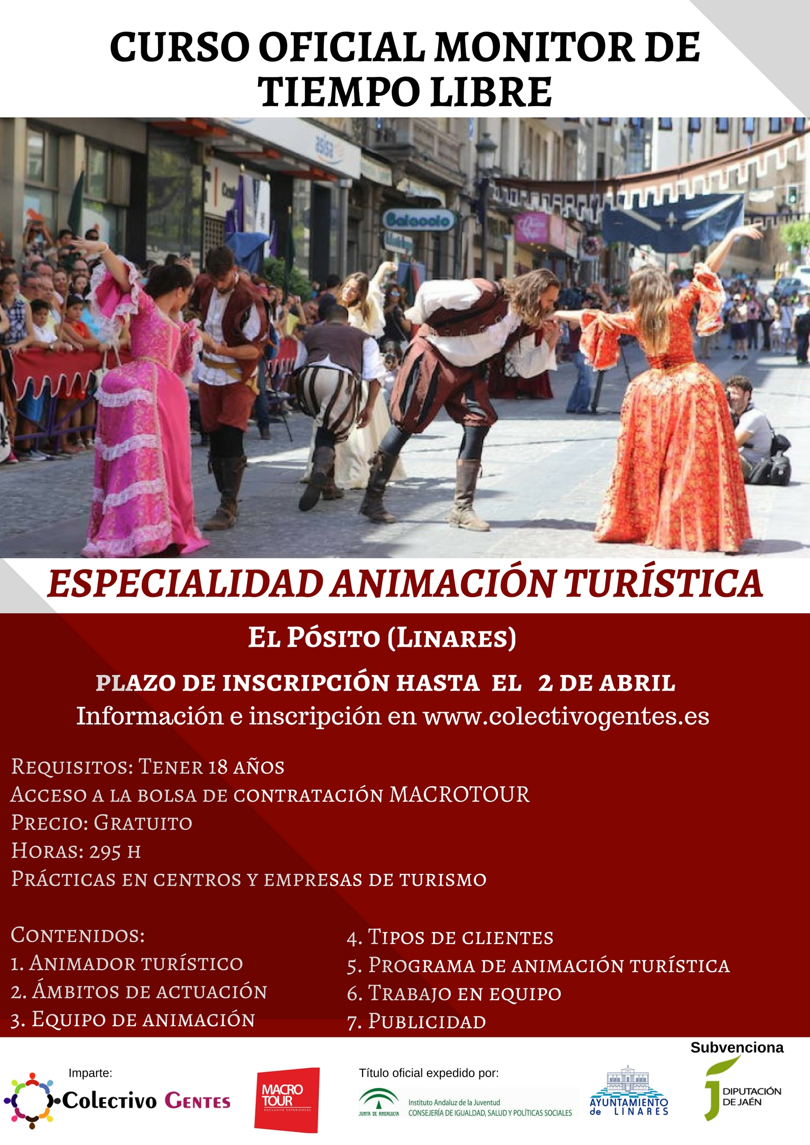 Curso Monitor/a de Tiempo Libre (Animación Turística) en Linares